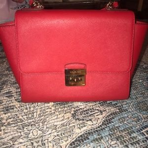 Red Michael Kors purse